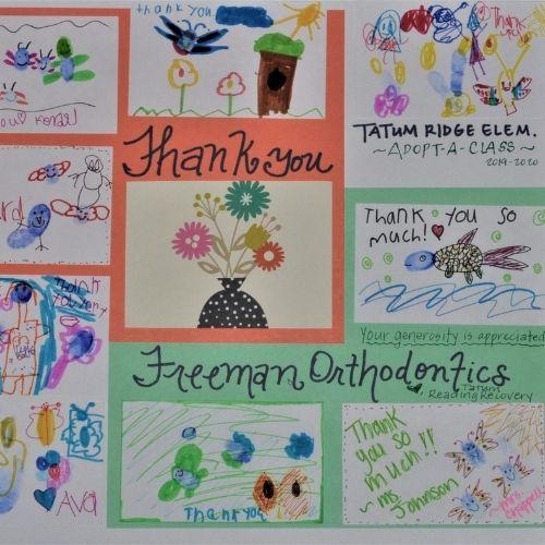 Tatum Ridge Elementary Thank You Freeman Orthodontics