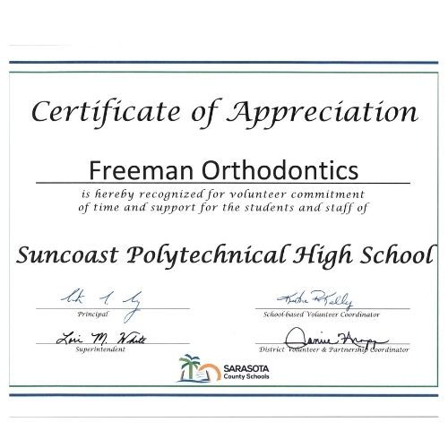 Suncoast Polytechnical High School Freeman Orthodontics